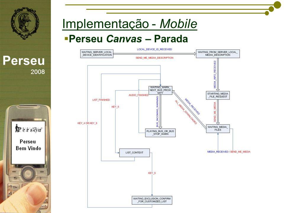 sfsdffsdf Implementação - Mobile Perseu 2008 Perseu Canvas – Parada