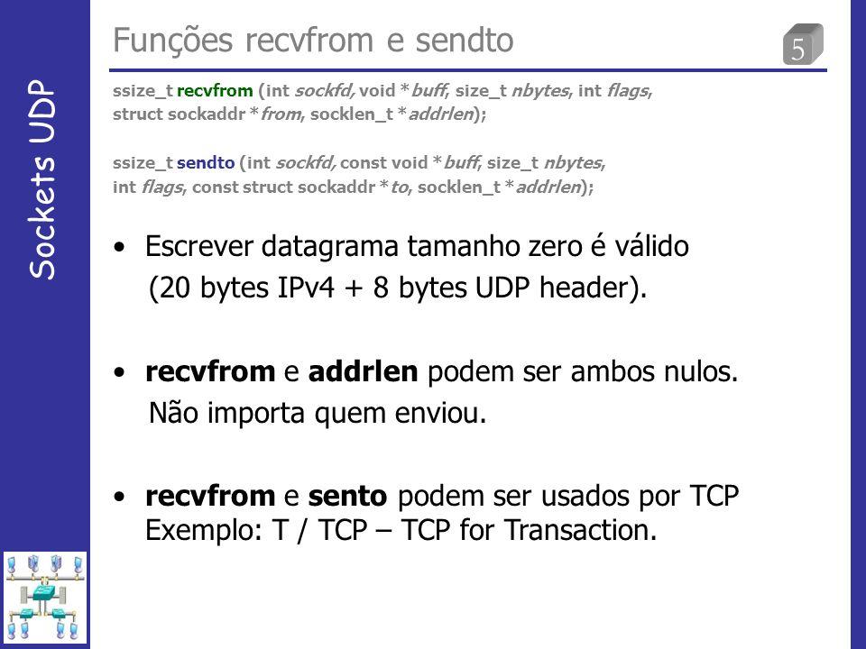 16 Servidor não responsivo Sockets UDP tcpdump quando processo servidor não iniciou no servidor.