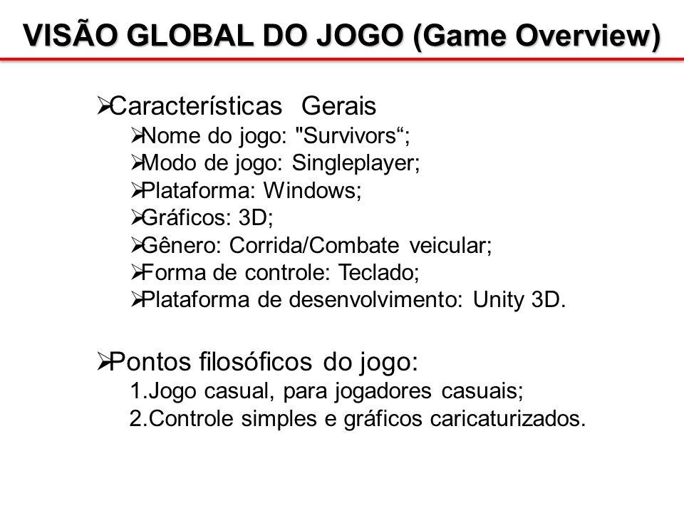 VISÃO GLOBAL DO JOGO (Game Overview) Características Gerais Nome do jogo: