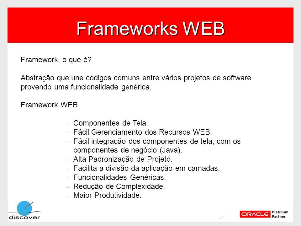 Frameworks WEB Framework, o que é? Abstração que une códigos comuns entre vários projetos de software provendo uma funcionalidade genérica. Framework