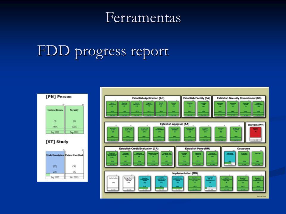 FDD progress report Ferramentas