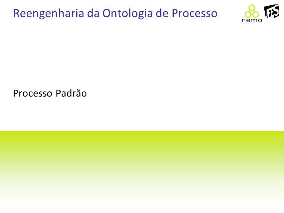Reengenharia da Ontologia de Processo Processo Padrão