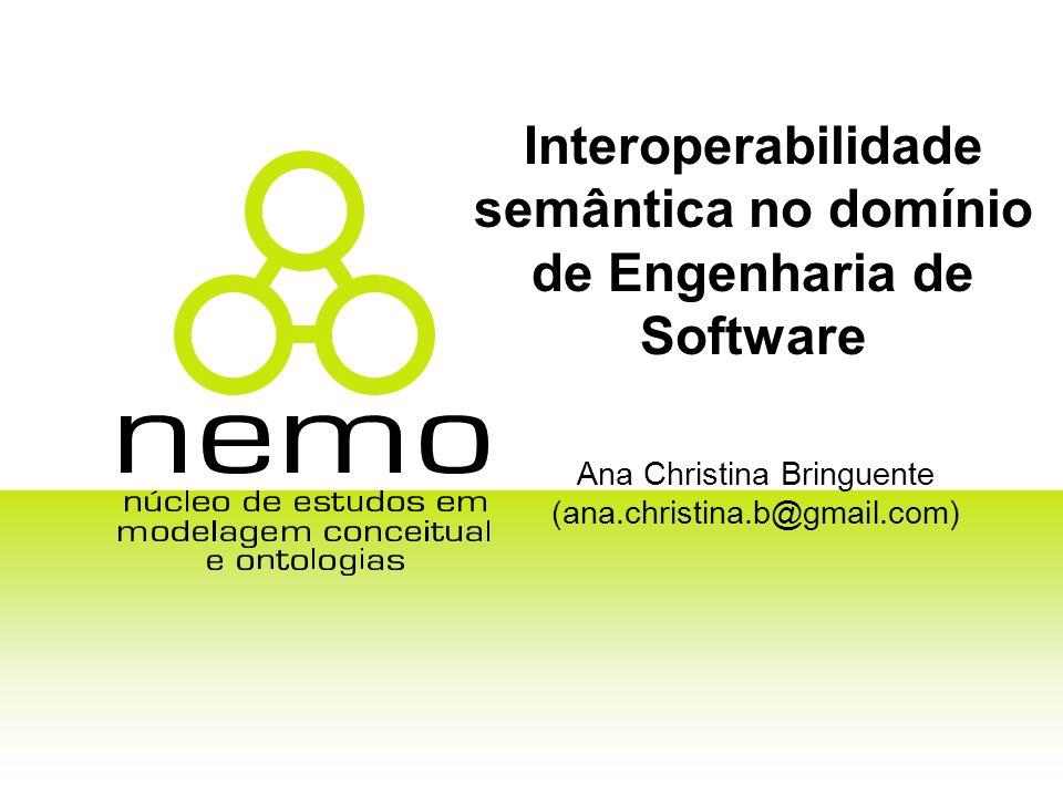 Interoperabilidade semântica no domínio de Engenharia de Software Ana Christina Bringuente (ana.christina.b@gmail.com)