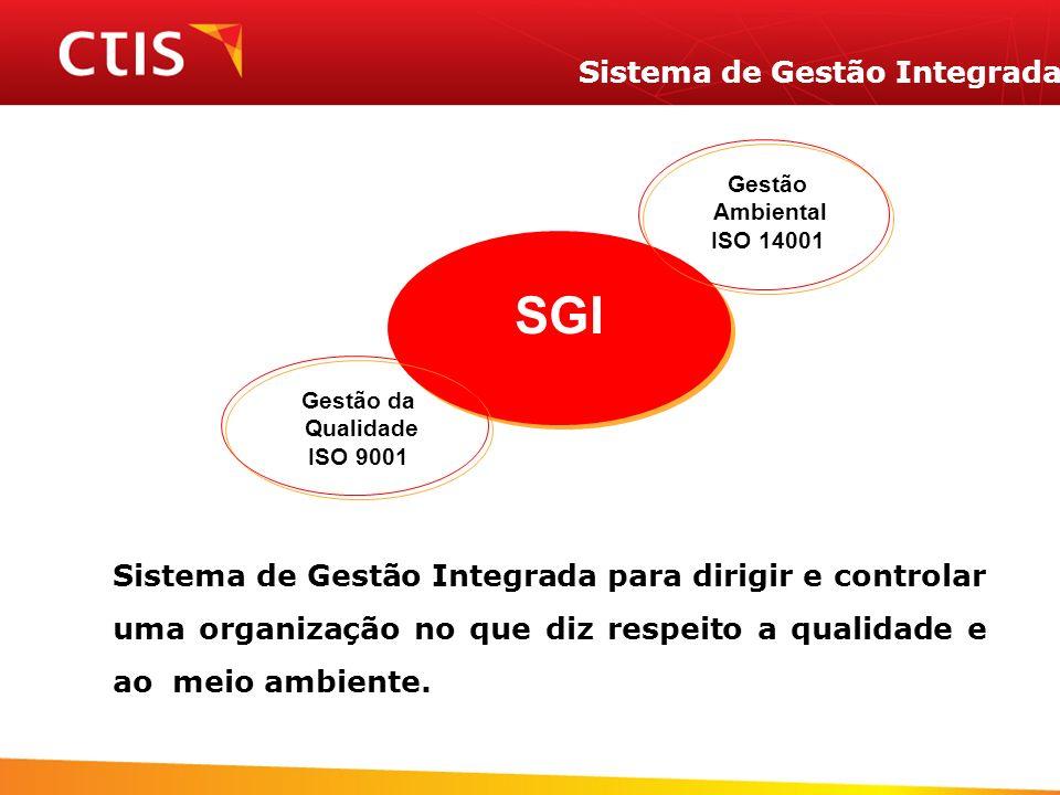 Sistema de Gestão Integrada Sistema de Gestão Integrada para dirigir e controlar uma organização no que diz respeito a qualidade e ao meio ambiente. G