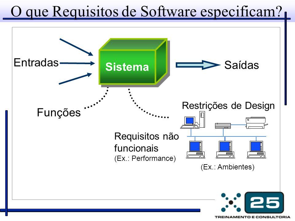 Atendendo às reais necessidades do cliente Característica 1: O sistema deve...