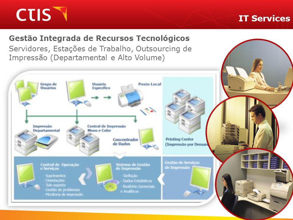 Gestão Integrada de Recursos Tecnológicos Servidores, Estações de Trabalho, Outsourcing de Impressão (Departamental e Alto Volume) IT Services