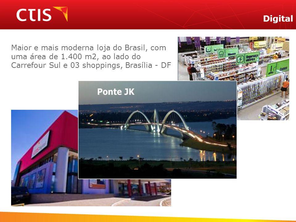 3ª Loja Digital Maior e mais moderna loja do Brasil, com uma área de 1.400 m2, ao lado do Carrefour Sul e 03 shoppings, Brasília - DF