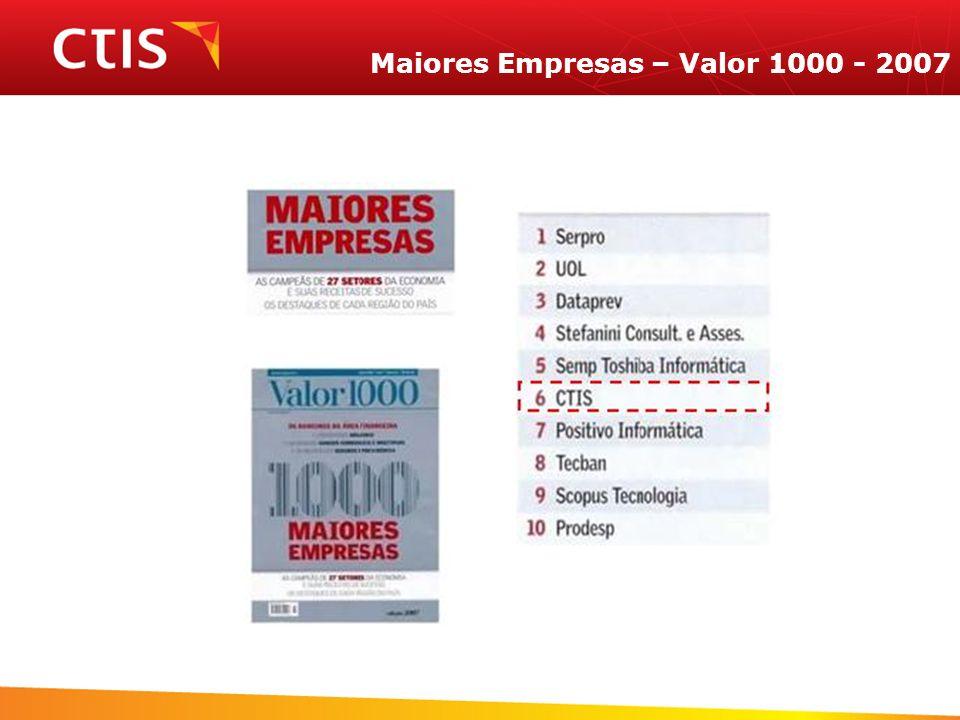Maiores Empresas – Valor 1000 - 2007
