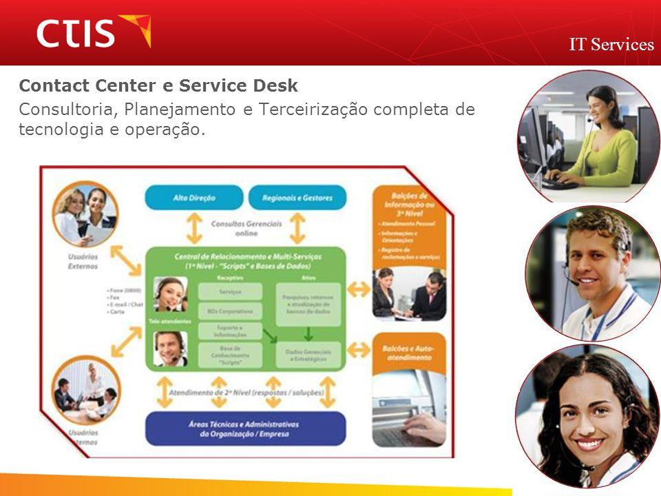 Contact Center e Service Desk Consultoria, Planejamento e Terceirização completa de tecnologia e operação. IT Services