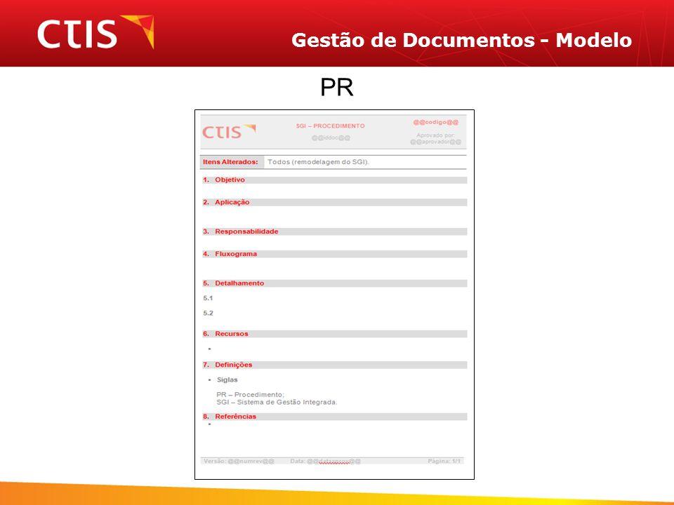 Gestão de Documentos - Modelo PR