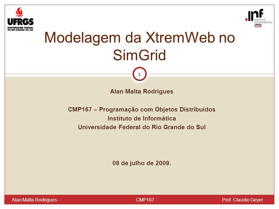 Alan Malta Rodrigues CMP167 – Programação com Objetos Distribuídos Instituto de Informática Universidade Federal do Rio Grande do Sul 08 de julho de 2