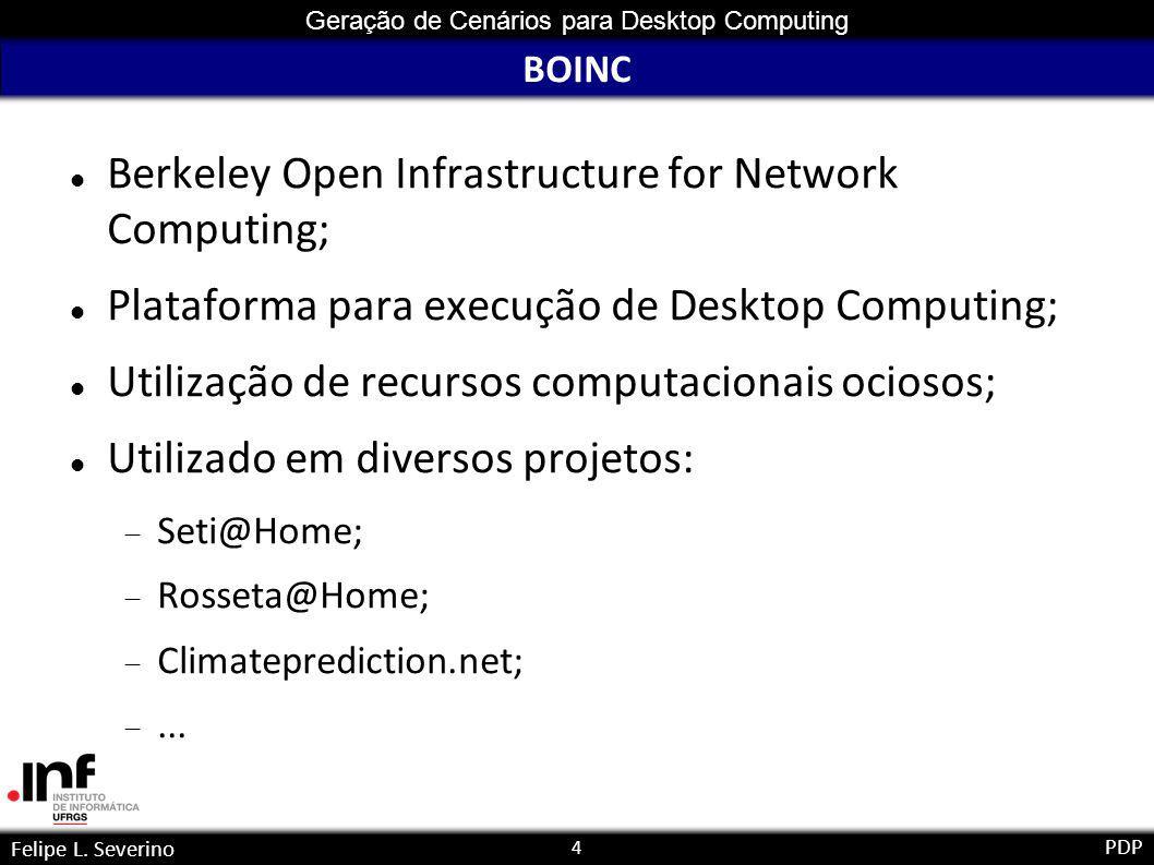15 Geração de Cenários para Desktop Computing Felipe L.