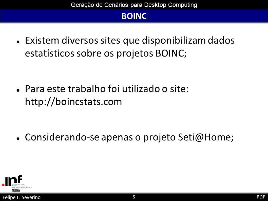 16 Geração de Cenários para Desktop Computing Felipe L.