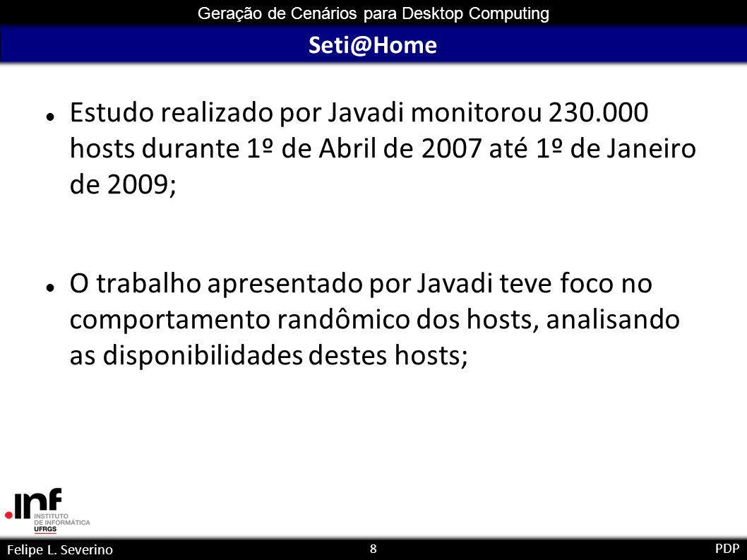 9 Geração de Cenários para Desktop Computing Felipe L. Severino PDP Seti@Home