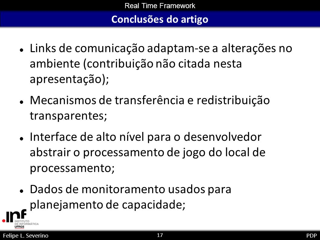 17 Real Time Framework Felipe L.
