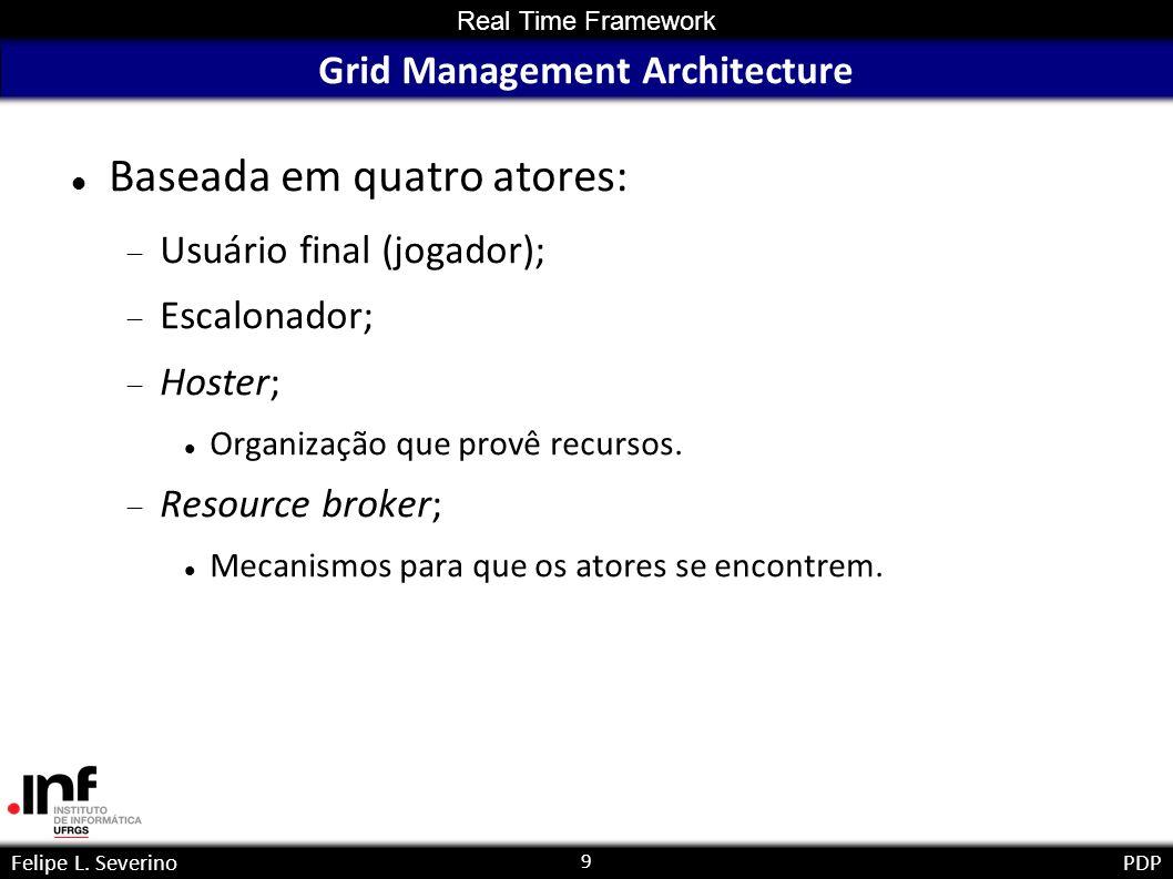 20 Felipe L.SeverinoPDP Enhancing Grids for Massively Multiplayer Online Computer Games Felipe L.