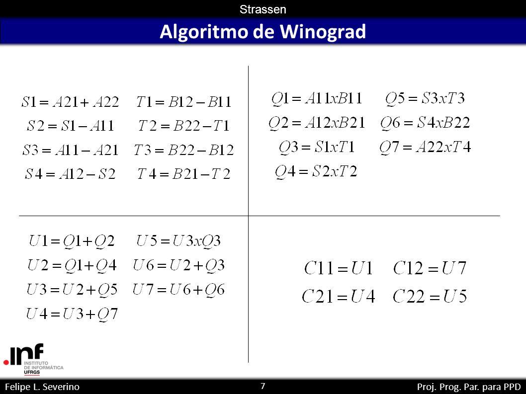 7 Strassen Felipe L. SeverinoProj. Prog. Par. para PPD Algoritmo de Winograd