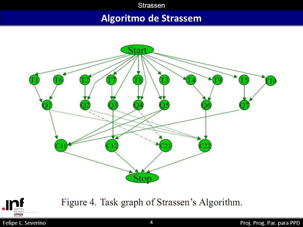 4 Strassen Felipe L. SeverinoProj. Prog. Par. para PPD Algoritmo de Strassem