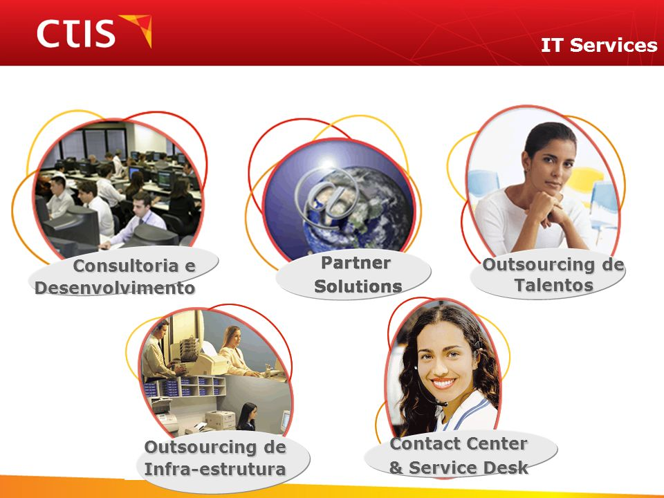 IT Services Consultoria e Desenvolvimento Outsourcing de Infra-estrutura Talentos Contact Center & Service Desk