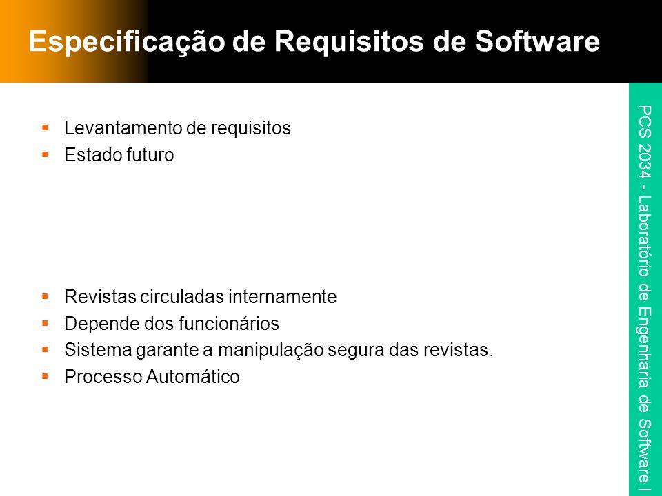 PCS 2034 - Laboratório de Engenharia de Software I Modelo de Casos de Uso 2.3 Suspende Funcionário Descrição: Suspende o funcionário do programa de empréstimo.