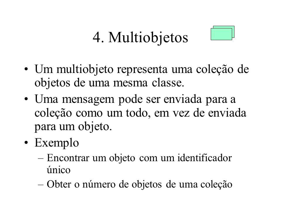 4.Multiobjetos Um multiobjeto representa uma coleção de objetos de uma mesma classe.