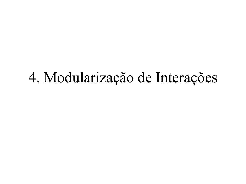 4. Modularização de Interações