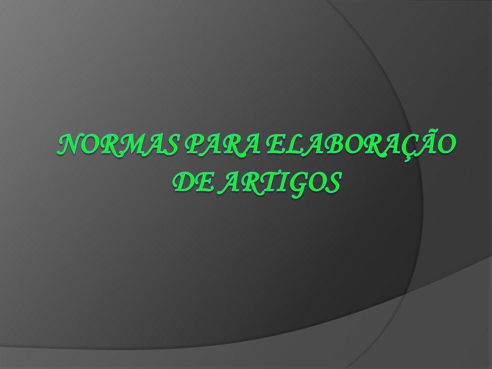 TÓPICOS DO ARTIGO