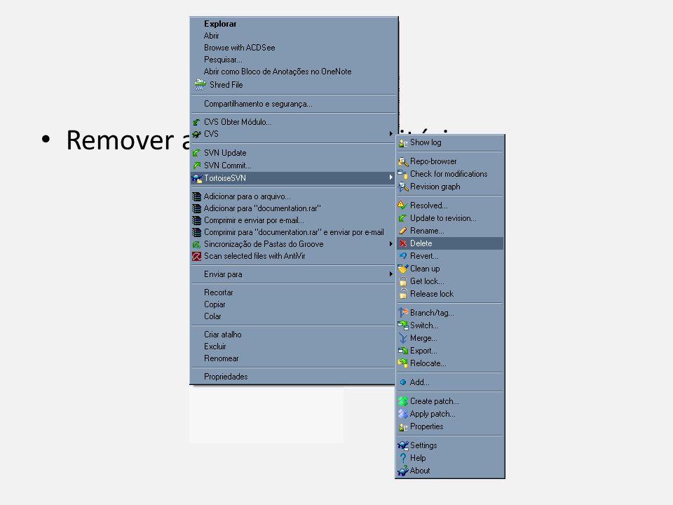Delete Remover arquivos do repositório