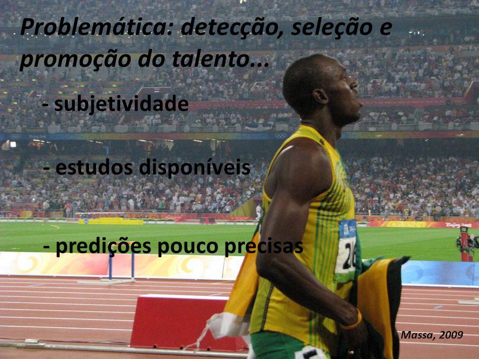 Problemática: detecção, seleção e promoção do talento...
