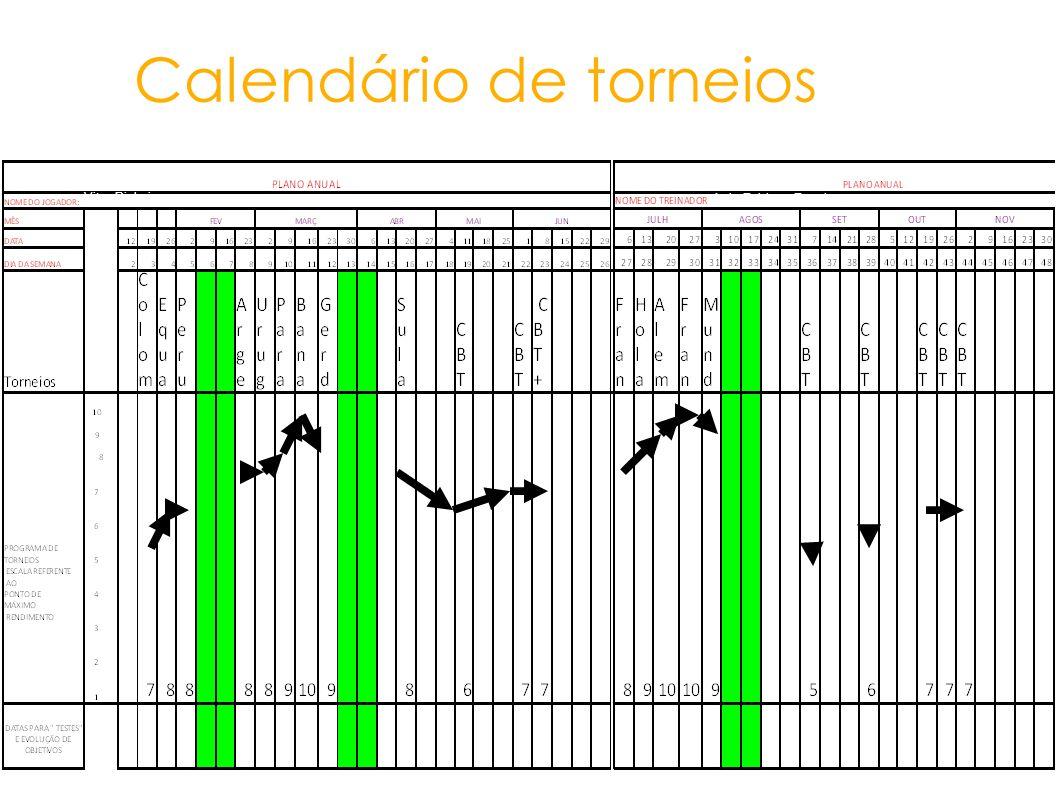 Calendário de torneios Vitor Pinheiro Luis Fabiano Ferreira