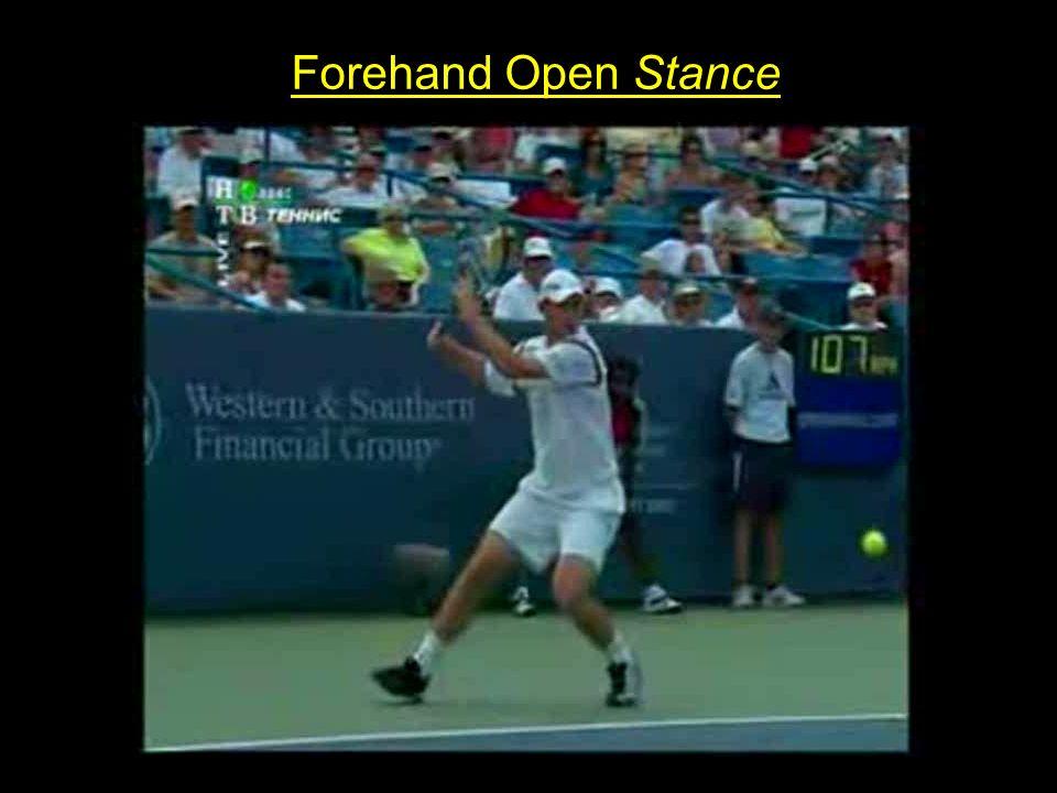 BACKHAND Diferenças entre 1 mão e 2 mãos 1 Mão2 Mãos Open Stance difícilfácil Posicionamento dos Pés X REID (2006) Posicionamento dos Pés