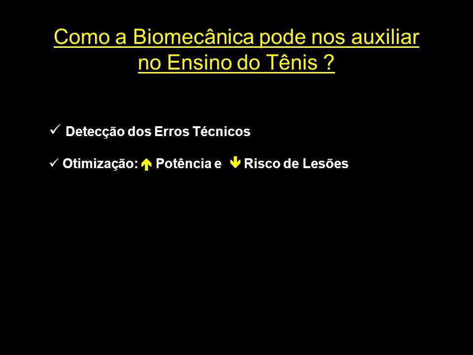Detecção dos Erros Técnicos Otimização: Potência e Risco de Lesões Como a Biomecânica pode nos auxiliar no Ensino do Tênis ?