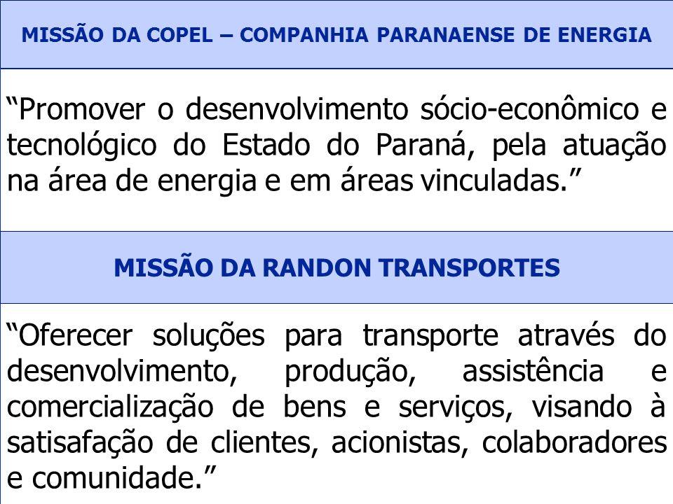 Promover o desenvolvimento sócio-econômico e tecnológico do Estado do Paraná, pela atuação na área de energia e em áreas vinculadas. Oferecer soluções