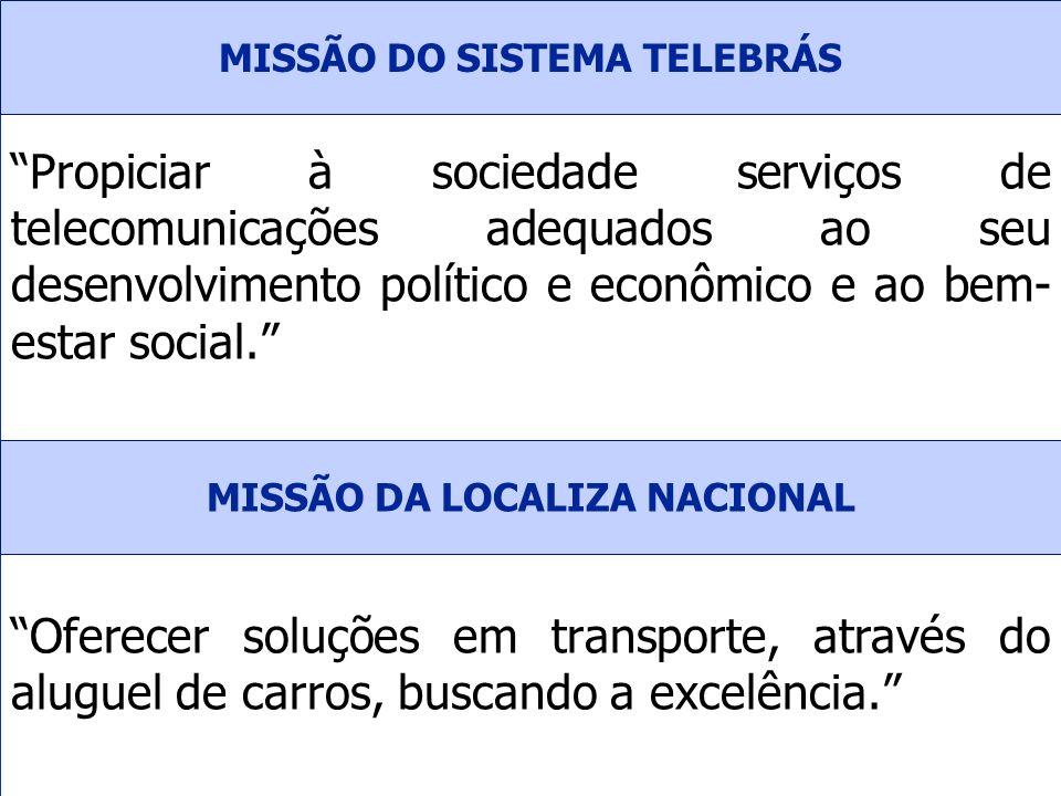 Propiciar à sociedade serviços de telecomunicações adequados ao seu desenvolvimento político e econômico e ao bem- estar social. Oferecer soluções em
