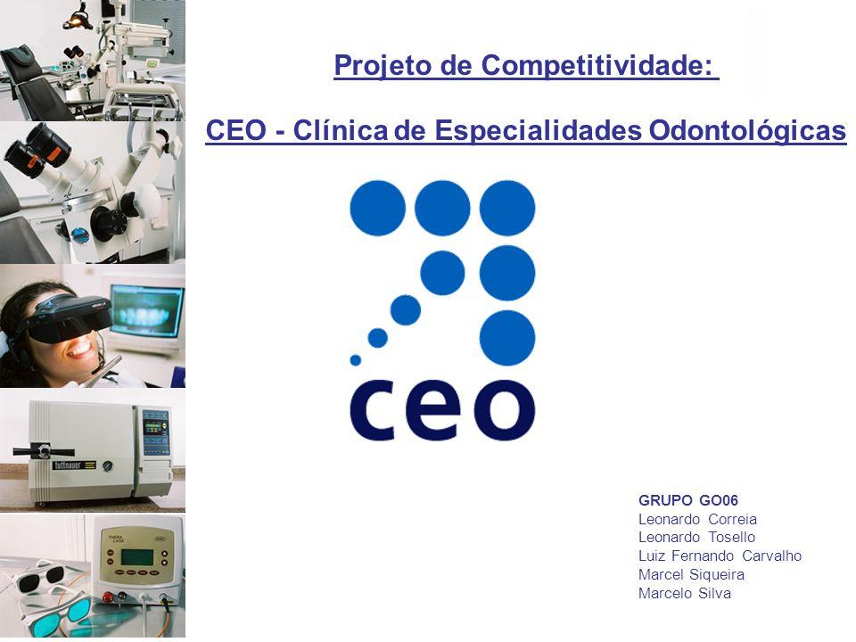 GRUPO GO06 Leonardo Correia Leonardo Tosello Luiz Fernando Carvalho Marcel Siqueira Marcelo Silva Projeto de Competitividade: CEO - Clínica de Especia
