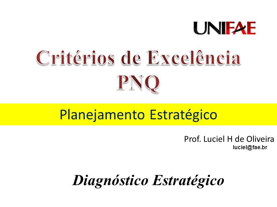 Planejamento Estratégico Prof. Luciel H de Oliveira luciel@fae.br Diagnóstico Estratégico