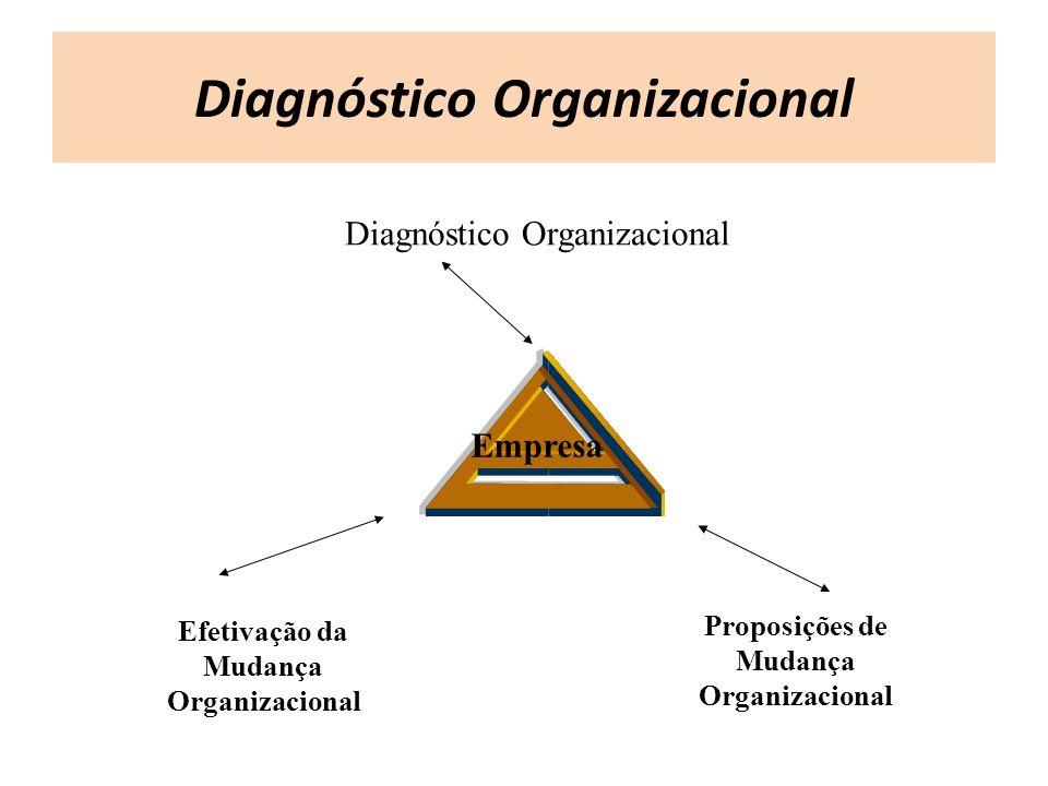 Diagnóstico Organizacional Proposições de Mudança Organizacional Efetivação da Mudança Organizacional Empresa Diagnóstico Organizacional