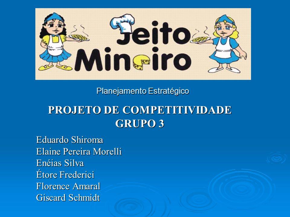 Objetivo Avaliação da posição competitiva da empresa Jeito Mineiro.