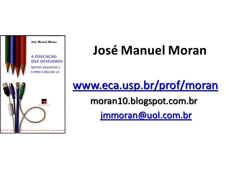 José Manuel Moran www.eca.usp.br/prof/moran www.eca.usp.br/prof/moranwww.eca.usp.br/prof/moran moran10.blogspot.com.br jmmoran@uol.com.br jmmoran@uol.com.brjmmoran@uol.com.br