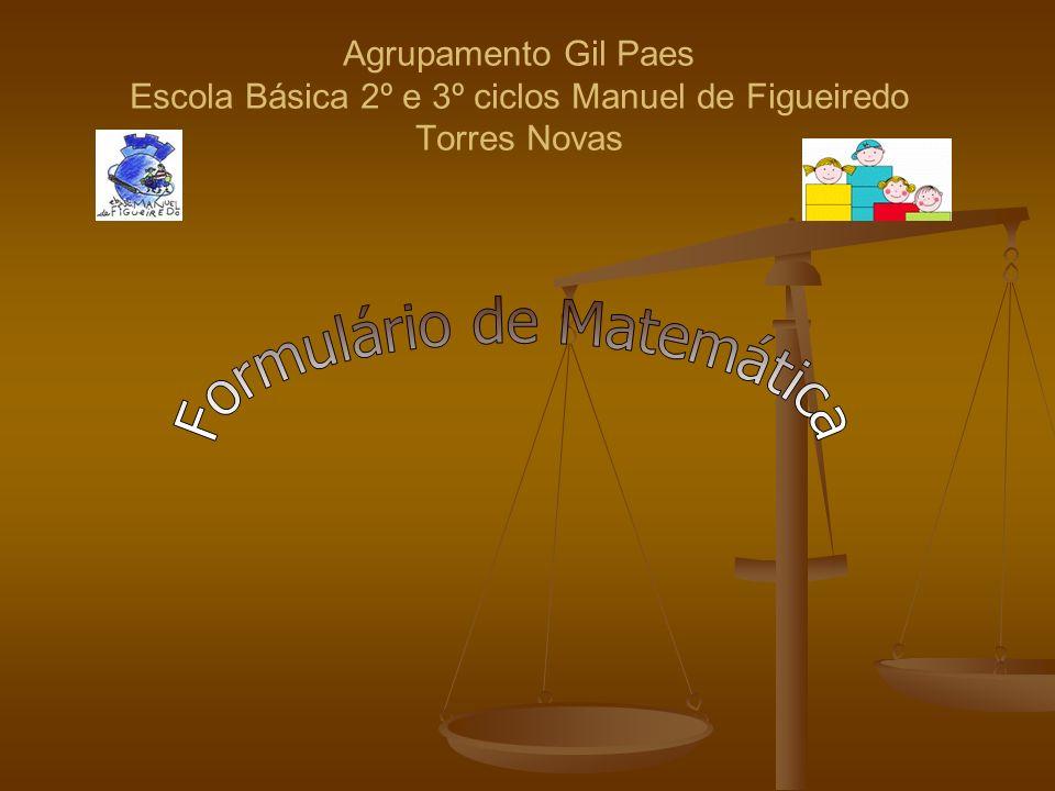 Agrupamento Gil Paes Escola Básica 2º e 3º ciclos Manuel de Figueiredo Torres Novas
