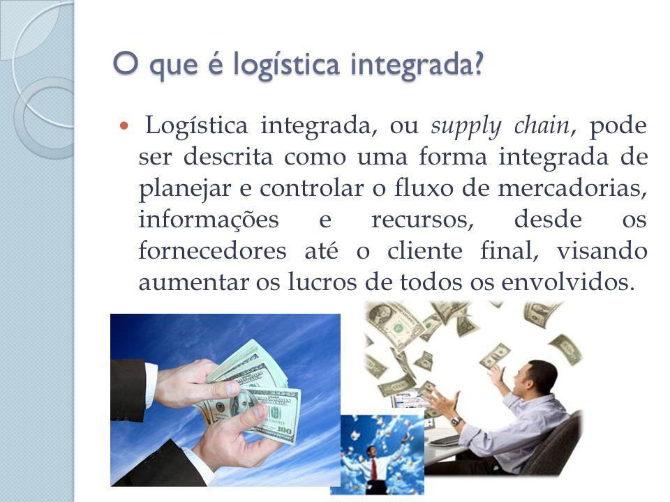 O que é logística integrada? Logística integrada, ou supply chain, pode ser descrita como uma forma integrada de planejar e controlar o fluxo de merca
