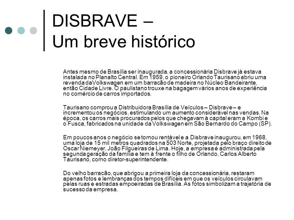 DISBRAVE – Um breve histórico Antes mesmo de Brasília ser inaugurada, a concessionária Disbrave já estava instalada no Planalto Central. Em 1959, o pi