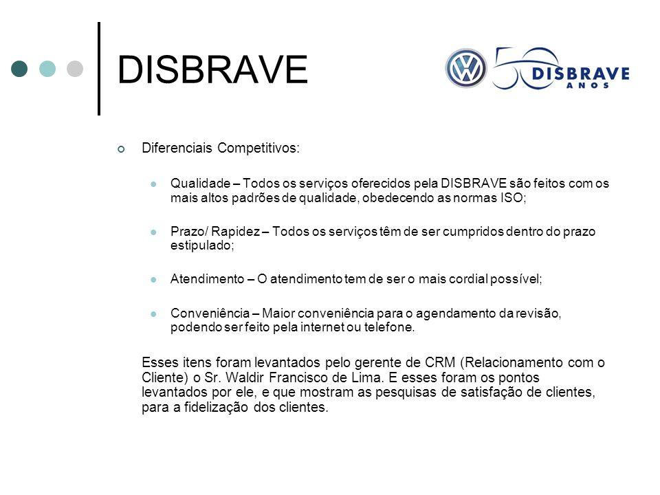 DISBRAVE Diferenciais Competitivos: Qualidade – Todos os serviços oferecidos pela DISBRAVE são feitos com os mais altos padrões de qualidade, obedecen