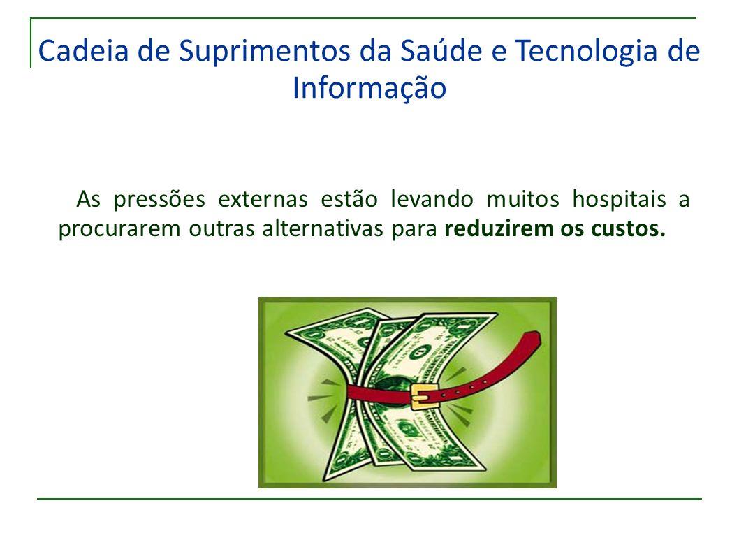 Cadeia de Suprimentos da Saúde e Tecnologia de Informação As pressões externas estão levando muitos hospitais a procurarem outras alternativas para re
