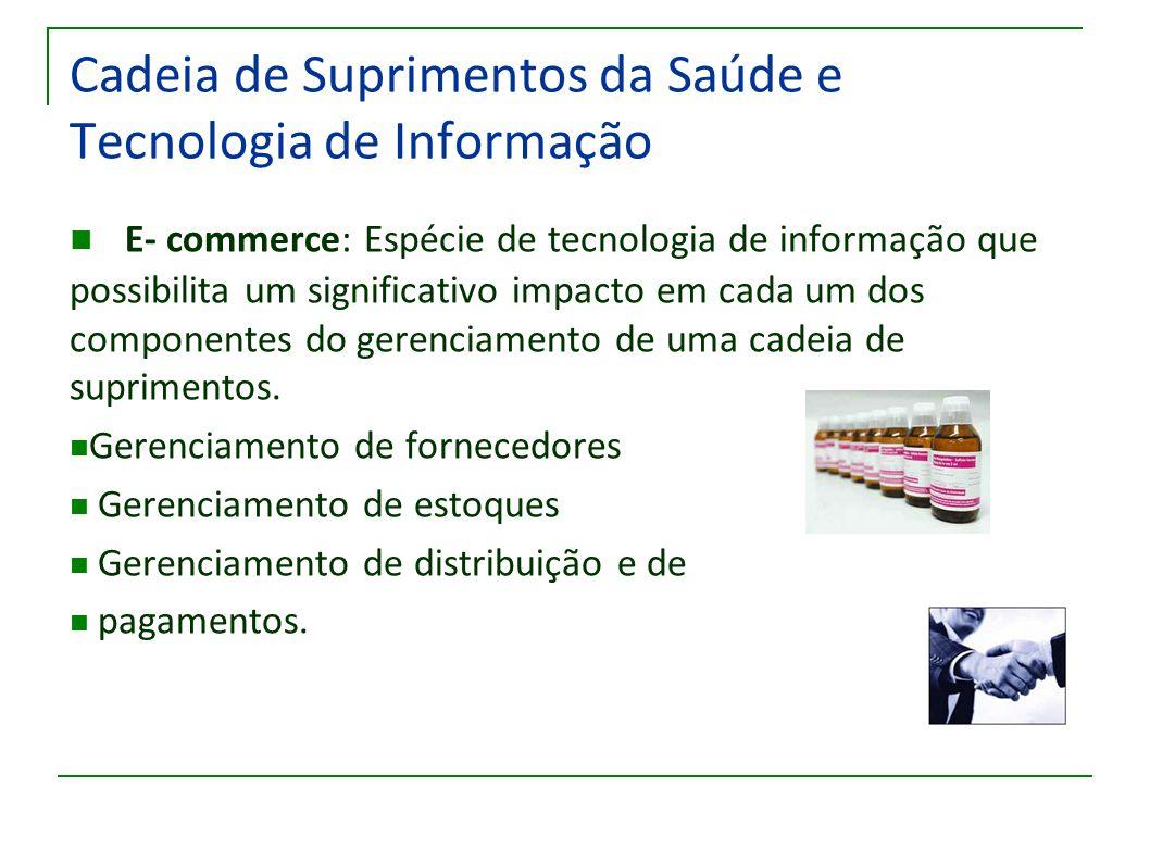 Cadeia de Suprimentos da Saúde e Tecnologia de Informação E- commerce: Espécie de tecnologia de informação que possibilita um significativo impacto em
