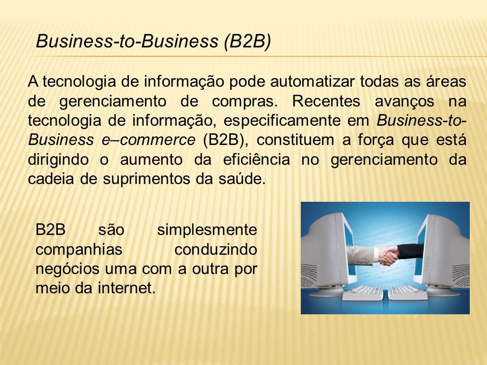 Em contraste com Business-to-Consumer e-commerce, onde milhões de usuários acessam um computador central, o Business-to-Business e-commerce avança um passo a mais.