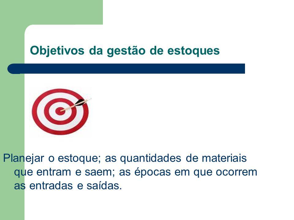 Perguntas: Quais tipos de procedimentos levaria a consecução de objetivos da gestão de estoques?