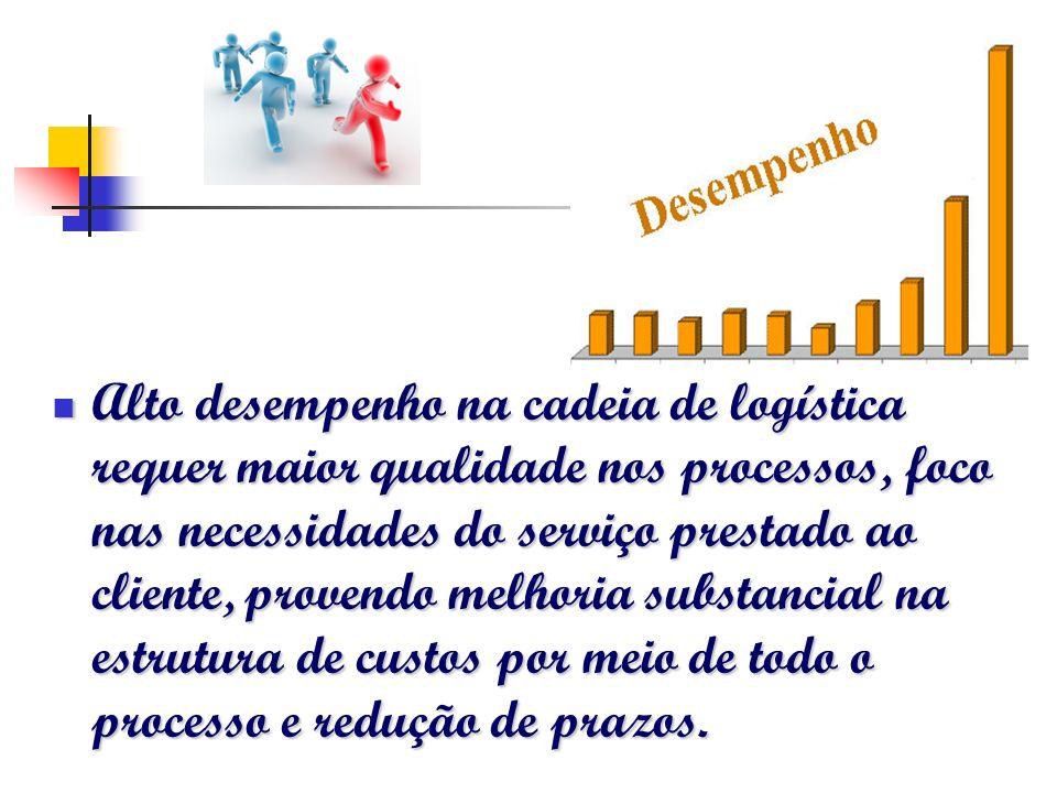 Alto desempenho na cadeia de logística requer maior qualidade nos processos, foco nas necessidades do serviço prestado ao cliente, provendo melhoria s