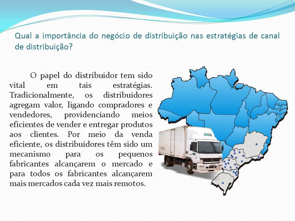 Qual a importância do negócio de distribuição nas estratégias de canal de distribuição.