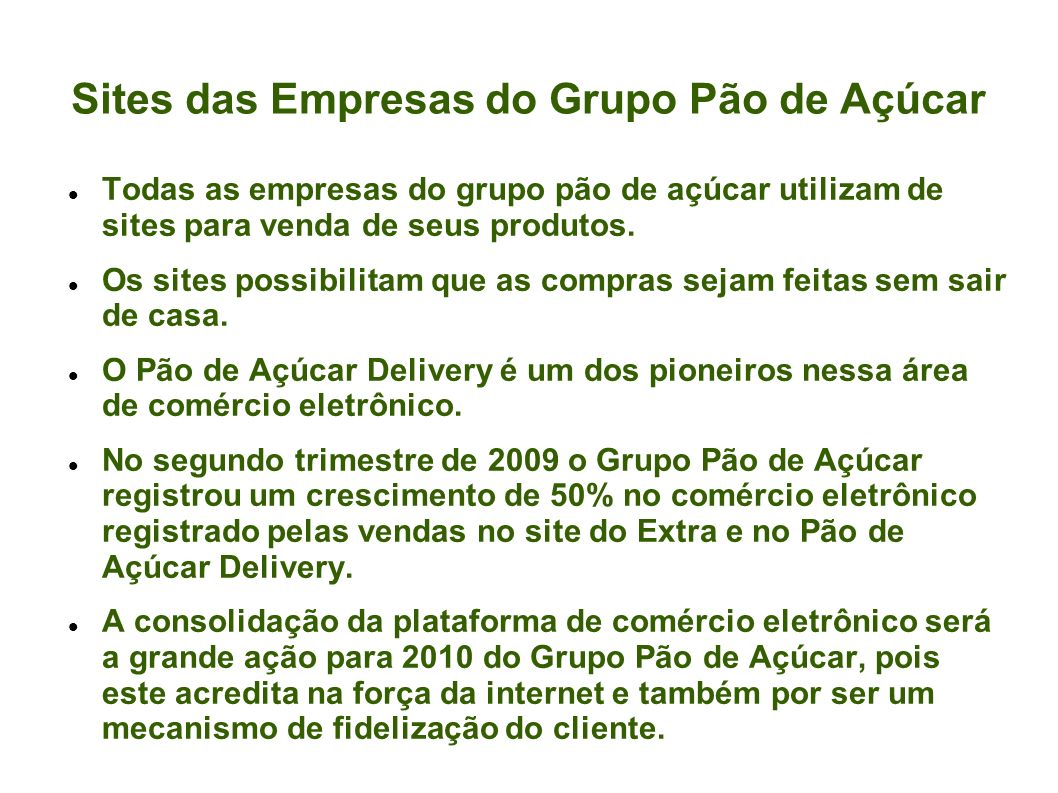 Potencial do Comércio Eletrônico Mecanismo de fidelização dos clientes.